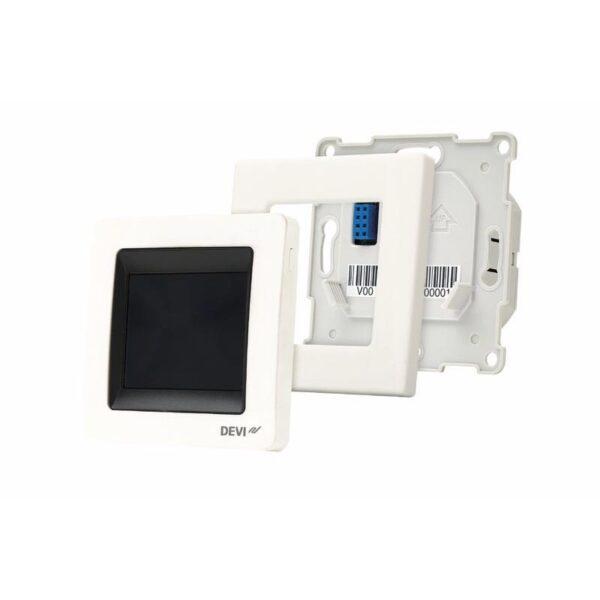 Yhdistelmätermostaatti DEVI - DEVIreg Touch valkoinen